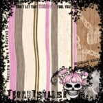 Creative Imaginations - Caution Girl Collection - Paper - Troublemaker, CLEARANCE