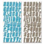 Creative Imaginations - Art Warehouse - Vibe Collection by Danelle Johnson - Large Chipboard - Vibe Alphabet, CLEARANCE
