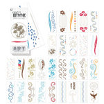 Creative Imaginations - Art Warehouse - Vibe Collection by Danelle Johnson - Swatch Book Impress On Rub Ons - Vibe, CLEARANCE