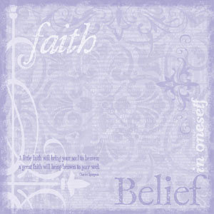 Creative Imaginations - Awareness Collection by Marah Johnson - 12x12 Paper - Faith