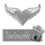 Creative Imaginations - Love Stuck by Marah Johnson - Tattoo Collection - Metal Embellishment