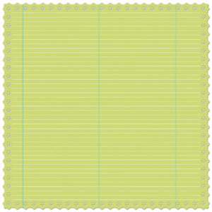 Creative Imaginations - Narratives - Honeydew Collection by Karen Russell - Scalloped Paper - Honeydew Notebook, CLEARANCE