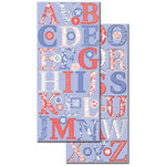Creative Imaginations - Narratives - Wildberry Collection by Karen Russell - Large Chipboard - Wildberry Alphabet, CLEARANCE