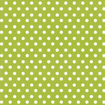 Creative Imaginations - Creative Cafe Collection - 12 x 12 Printed Felt - Lime Polka Dot