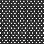 Creative Imaginations - Creative Cafe Collection - 12 x 12 Printed Felt - Black Polka Dot