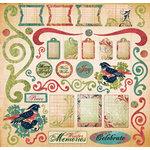 Creative Imaginations - Winter Garden Collection by Christine Adolph - 12x12 Sticker Sheets - Winter Garden