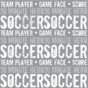 Creative Imaginations - Sports Xtreme Soccer Collection by Christine Adolph - 12x12 Paper - Soccer Text