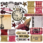 Creative Imaginations - Rock Star Collection by Marah Johnson - 12x12 Cardstock Stickers - Rock Star