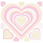 Creative Imaginations - Narratives - French Sweet Pea Collection by Karen Russell - 12x12 Sticker Sheets - Sweet Pea Hearts, CLEARANCE