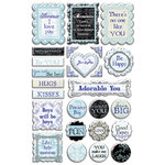 Creative Imaginations - Narratives - French Blue Bell Collection by Karen Russell - Epoxy Stickers - French Blue Bell, CLEARANCE