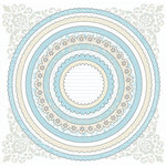 Creative Imaginations - Narratives - French Blue Bell Collection by Karen Russell - 12x12 Sticker Sheets - Blue Bell Circle, CLEARANCE