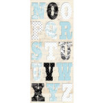 Creative Imaginations - Narratives - French Blue Bell Collection by Karen Russell - Chipboard Alphabet - French Blue Bell, CLEARANCE