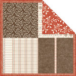 Creative Imaginations - Day By Day Collection by Samantha Walker - 12x12 Double Sided Paper - Quadrant, CLEARANCE