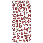 Creative Imaginations - Drop Dead Red Signature Collection - Glitter Chipboard - Drop Dead Red Large Alphabet