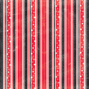 Creative Imaginations - Signature Magic Meals Collection - 12x12 Paper - Magic Stripes