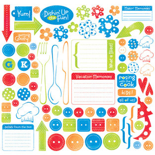 Creative Imaginations - Signature Magic Meals Collection - 12x12 Sticker Sheets - Silly