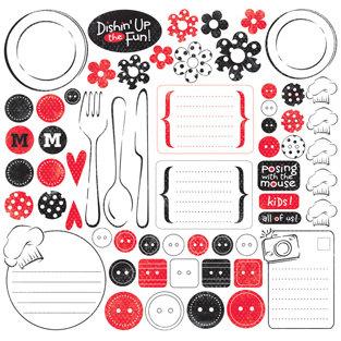Creative Imaginations - Signature Magic Meals Collection - 12x12 Sticker Sheets - Magic