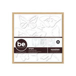 Creative Imaginations - Bare Elements Collection - Die Cut Chipboard - D-Mensions - Wings, CLEARANCE