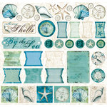 Creative Imaginations - Tidepools Collection by Christine Adolph - 12x12 Cardstock Stickers - Tidepools