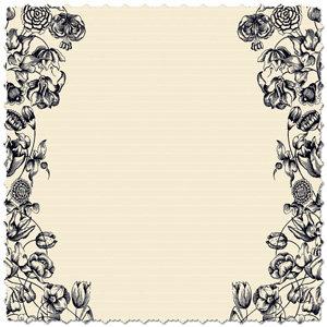 Creative Imaginations - Narratives - Antique Cream Collection - 12x12 Diecut Paper - Double Cream Floral