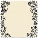 Creative Imaginations - Narratives - Antique Cream Collection - 12x12 Diecut Paper - Double Cream Floral