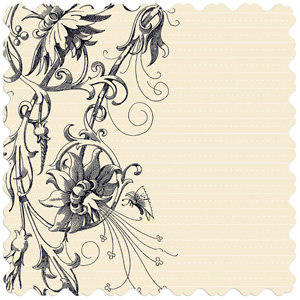Creative Imaginations - Narratives - Antique Cream Collection - 12x12 Diecut Paper - Cream Floral