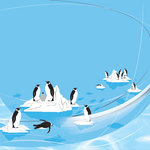 Creative Imaginations - Sea World Collection - 12x12 Paper - Penguins, CLEARANCE