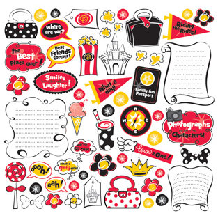 Creative Imaginations - Magic Collection - 12x12 Cardstock Stickers - Magic