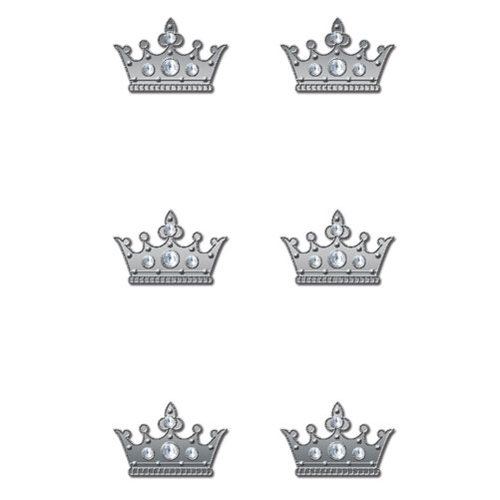 Creative Imaginations - Metal Cast Rhinestone Brads - Clear Crown