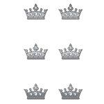 Creative Imaginations - Metal Cast Rhinestone Brads - Clear Crown