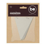 Creative Imaginations - Bare Elements - Chipboard Pennant Book - Elain