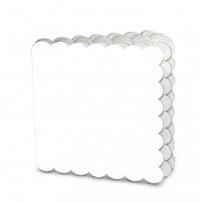 Creative Imaginations - Creative Cafe Collection - Scalloped Mini Book - White
