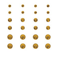 Creative Imaginations - Creative Cafe Collection - Self Adhesive Gems - Gold