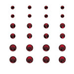 Creative Imaginations - Creative Cafe Collection - Self Adhesive Gems - Dark Red