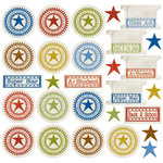 Creative Imaginations - Class Act Collection by Danelle Johnson - 12 x 12 Cardstock Stickers - Grades and Tabs, CLEARANCE