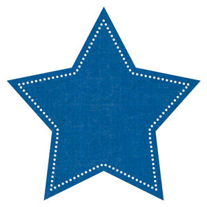 Creative Imaginations - Art Warehouse Collection by Danelle Johnson - 12 x 12 Die Cut Paper - Star