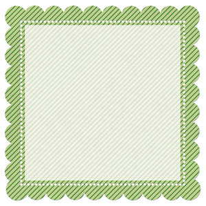 Creative Imaginations - Art Warehouse by Danelle Johnson - 12 x 12 Christmas Die Cut Paper - Mistletoe Stripe, CLEARANCE