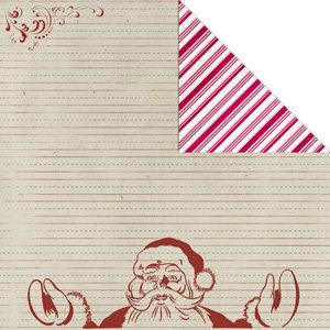 Creative Imaginations - Art Warehouse by Danelle Johnson - Christmas - 12 x 12 Double Sided Paper - Dear Santa