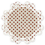 Creative Imaginations - Art Warehouse by Danelle Johnson - 12 x 12 Christmas Die Cut Paper - Hollyberry Dot