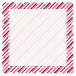 Creative Imaginations - Art Warehouse by Danelle Johnson - 12 x 12 Christmas Die Cut Paper - Hollyberry Candy Cane, CLEARANCE