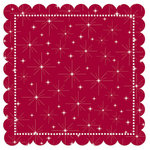 Creative Imaginations - Art Warehouse by Danelle Johnson - 12 x 12 Christmas Die Cut Paper - Hollyberry Star, CLEARANCE