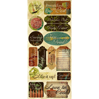 Creative Imaginations - Everyday Gourmet Collection by Christine Adolph - Jumbo Cardstock Stickers - Everyday Gourmet