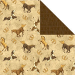 Creative Imaginations - Buckaroo Collection by Debbie Mumm - 12 x 12 Double Sided Paper - Giddy Up