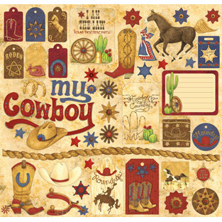 Creative Imaginations - Buckaroo Collection by Debbie Mumm - 12 x 12 Cardstock Stickers - Buckaroo