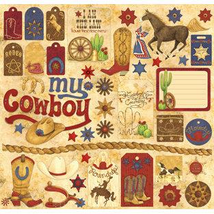 Creative Imaginations - Buckaroo Collection by Debbie Mumm - 12 x 12 Cardstock Stickers - Buckaroo
