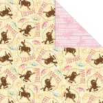 Creative Imaginations - Cowgirl Collection by Debbie Mumm - 12 x 12 Double Sided Paper - Yee Haa