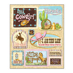 Creative Imaginations - Cowgirl Collection by Debbie Mumm - 3 Dimensional Stickers - Cowgirl Up, CLEARANCE
