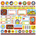 Creative Imaginations - Smarty Collection by Helen Dardik - 12 x 12 Cardstock Stickers - Smarty