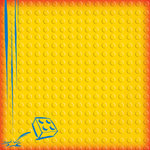Creative Imaginations - Lego Classic Collection - 12 x 12 Embossed Paper - Classic Yellow Brick