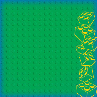 Creative Imaginations - Lego Classic Collection - 12 x 12 Embossed Paper - Classic Green Brick